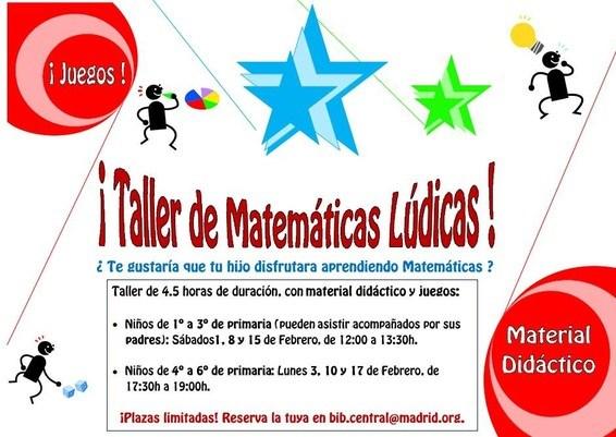 Taller De Matematicas Ludicas En Biblioteca Publica Moratalaz
